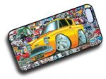 Koolart STICKERBOMB STYLE Design For Old Skool Retro Ford Anglia 105e Hard Case Cover Fits Apple iPhone 4 & 4s